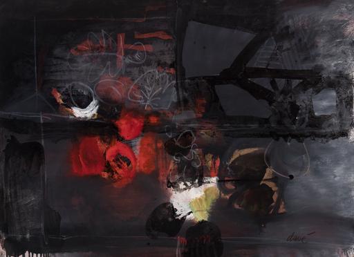 Antoni CLAVÉ - 绘画 - Composición rojo y negro