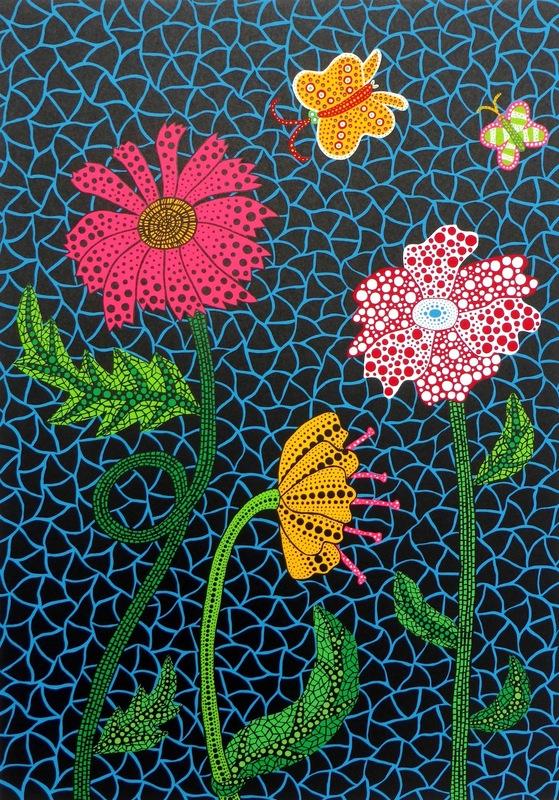 Yayoi KUSAMA - Stampa Multiplo - Flowers
