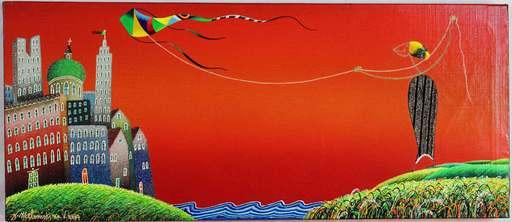MELONISKI - Pintura - Il gioco dell'aquillone