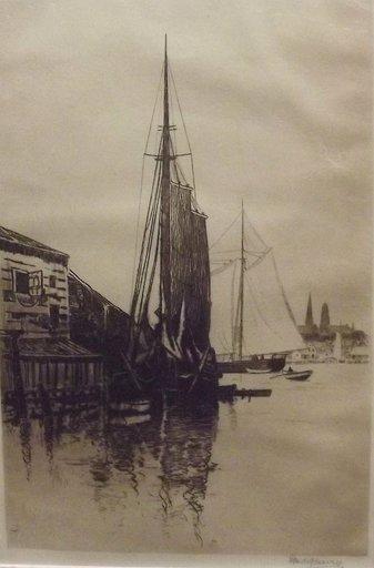 George Wainwright HARVEY - Druckgrafik-Multiple - Gloucester Harbor