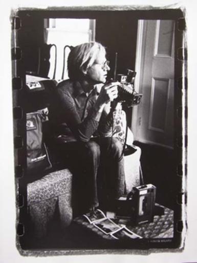 Gérard MALANGA - Photography - Andy Warhol with his media toys