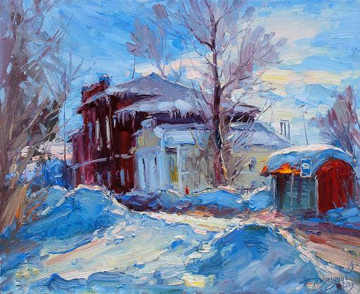 Yuriy DEMIYANOV - Gemälde - Le Soleil dans les Congères
