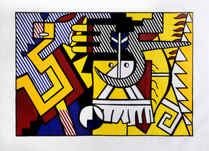 Roy LICHTENSTEIN, American Indian Theme VI