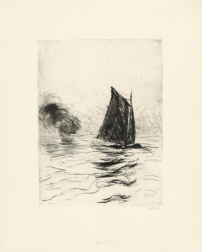 埃米尔•诺尔德 - 版画 - Segler und Rauch