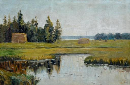 Eugeniusz WRZESZCZ - Painting - Landscape