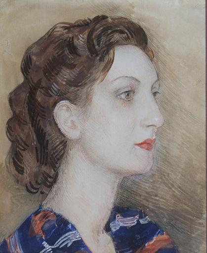 Camillo INNOCENTI - Dessin-Aquarelle - Ritratto di donna