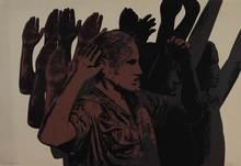 Rafael CANOGAR - Grabado - Los prisoneros
