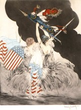 Louis ICART - Print-Multiple - *Courage My Legions