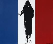 BLEK LE RAT - Pittura - Homeless In Paris