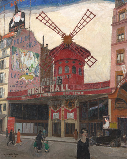 Léon SMET DE - Painting - Le Moulin Rouge