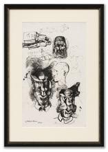 Pavel TCHELITCHEW - Dibujo Acuarela - Head & Figure Studies