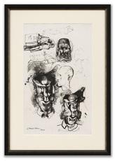 Pavel TCHELITCHEW - Drawing-Watercolor - Head & Figure Studies