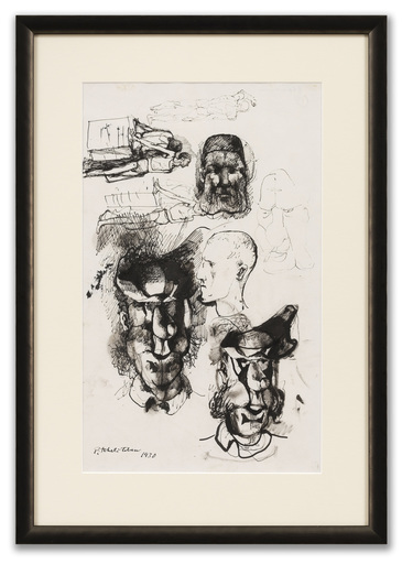 Pavel TCHELITCHEW - Disegno Acquarello - Head & Figure Studies