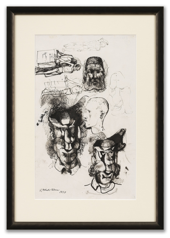 Pavel TCHELITCHEW - Drawing-Watercolor - Head & Figure Studies