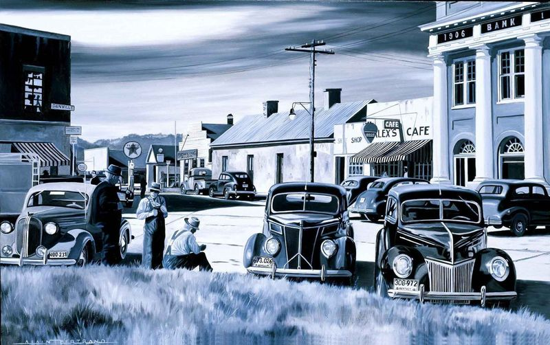 Alain BERTRAND - Peinture - Alex Cafe