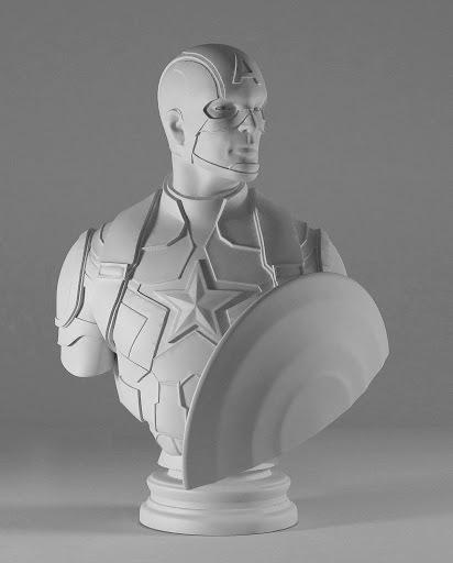 Léo CAILLARD - Scultura Volume - Captain America