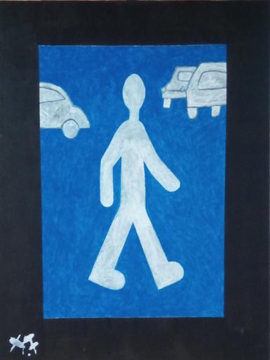 Harry BARTLETT FENNEY - Painting - guardian of the car park