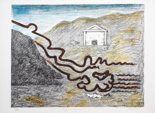 Giorgio DE CHIRICO - Stampa-Multiplo - Il fiume misterioso, 1969