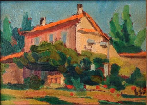Henri SIE - Pintura - Maison de Colette à Saint Tropez