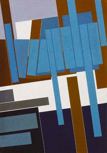 Gualtiero NATIVI - Pintura - Modulato Azzurro