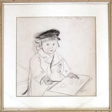 Paul César HELLEU - Dibujo Acuarela - Jean Helleu im Alter von 2 Jahren