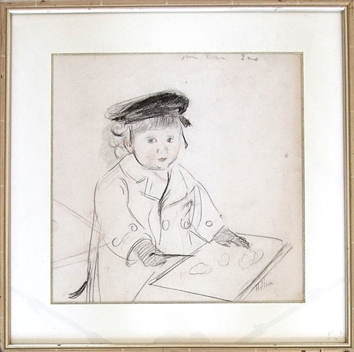 Paul César HELLEU - Disegno Acquarello - Jean Helleu im Alter von 2 Jahren