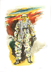Renato GUTTUSO - 版画 - Addio alle Armi Omaggio a Hemingway_5