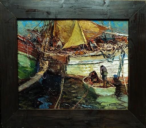 Louis BONAMICI - Pittura - Pêcheurs et tartanes