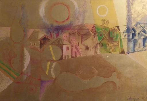 Riccardo SCHWEIZER - Painting - Mezzano e figura