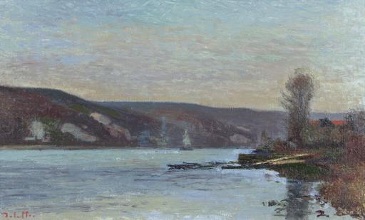 Joseph DELATTRE - Pittura - Bord de Seine