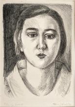 亨利·马蒂斯 - 版画 - Jeune fille au Col d'organdi