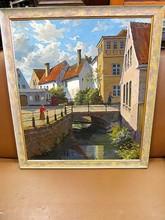 Valdemar THOMSEN - Pintura - Kanal mit Brücke in der Altstadt ( Apenrade )