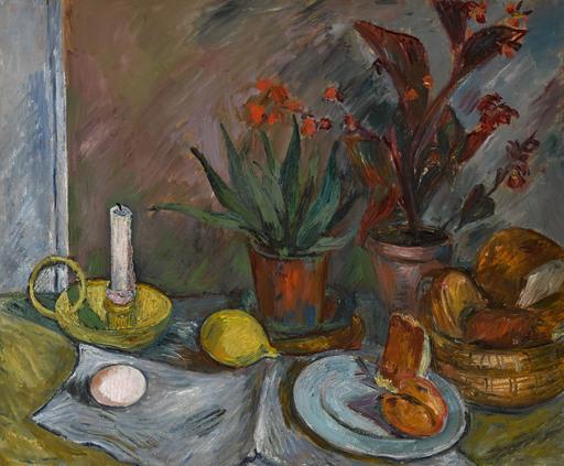 Walter BONDY - Peinture - Stilleben mit Kerzenleuchter