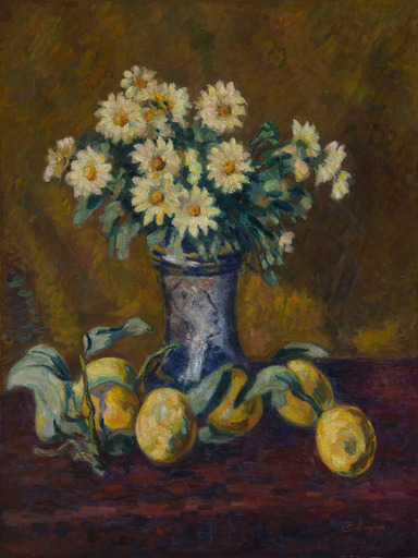 Armand GUILLAUMIN - Painting - Nature morte au vase de fleurs