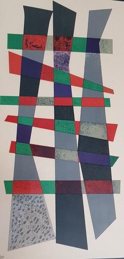Wassily KANDINSKY - Grabado - Composition abstraite de 1932 - Compositie 32