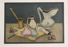 "Mikhail CHEMIAKIN - Print-Multiple - ""Still Life with Fish on Board"""