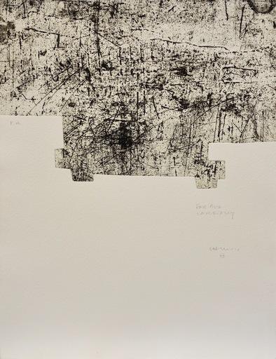 Eduardo CHILLIDA - Druckgrafik-Multiple - Yves Bonnefoy: Une Hélène de vent au de fumée I
