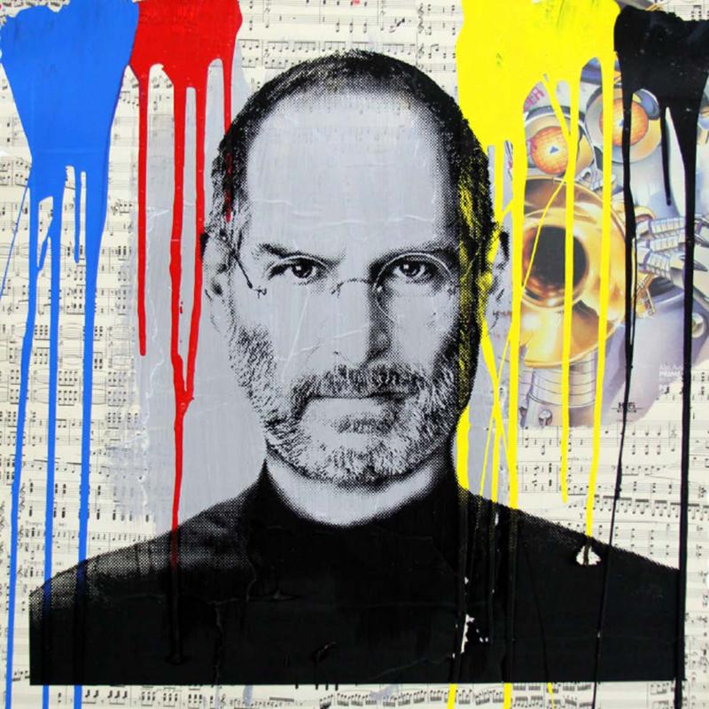 Mr brainwash steve jobs 4 artwork on the marketplace for Mural by mr brainwash