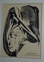Pierre GASTAUD - Dibujo Acuarela - Abstraction