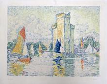 Jacques VILLON - Grabado - Le Port de la Rochelle