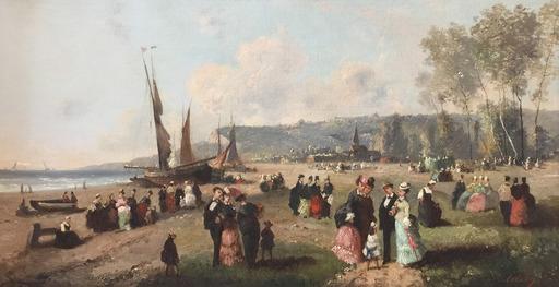 Guillaume François COLSON - Peinture - Sur la plage