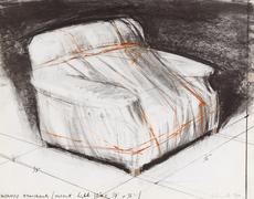 CHRISTO - Grabado - Wrapped armchair