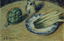 Gustave LOISEAU - Painting - Natura morta con asparagi, 1926 ca