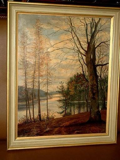 Heinrich STEEN - Painting - Herbst am Schmalsee