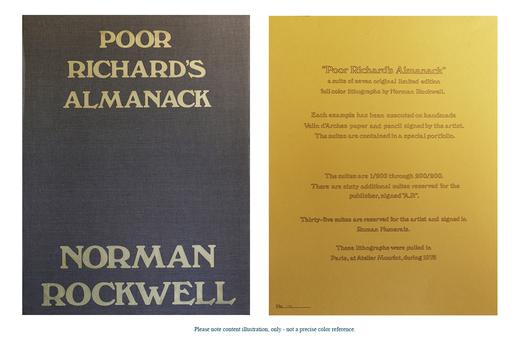 诺曼•洛克威尔 - 版画 - Poor Richard's Almanack - 7 Signed Lithographs