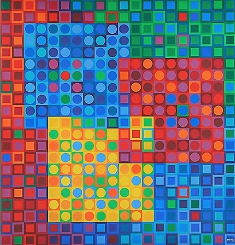 Victor VASARELY - Estampe-Multiple - Orion Noir