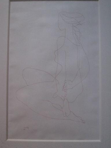 Joseph CSAKY - Drawing-Watercolor - JEUNE FILLE 1947