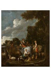 Cornelis DE WAEL - Gemälde - Landscape