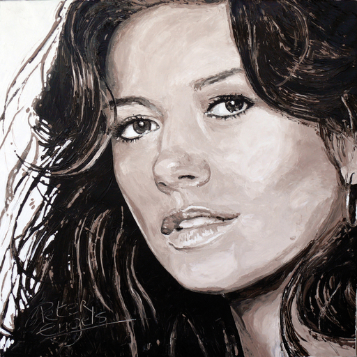 Peter ENGELS - Pintura - Soulmate To Depend On.  CATHERINE ZETA-JONES.