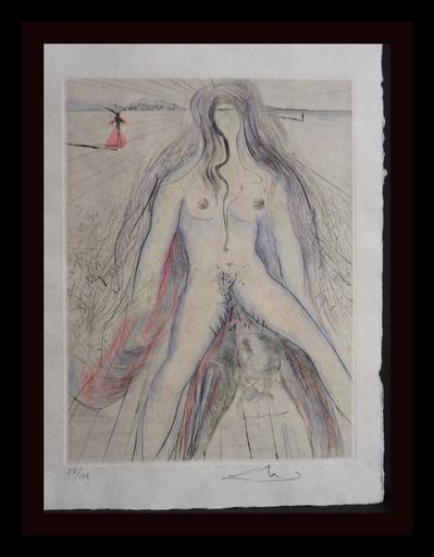 萨尔瓦多·达利 - 版画 - La Venus aux Fourrures Woman on Horse